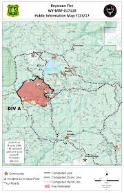 Wyoming Wildfires Map Wyoming Wildfire Roundup For July 24 2017 Yellowstone Public Radio