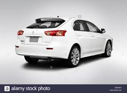 mitsubishi white 2010 mitsubishi lancer sportback gts in white rear angle view