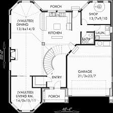 Stair Floor Plan Brick House Plans Curved Stair Case Attic Dormer Small Castle