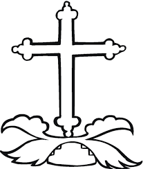 coloring page cross cross coloring page google search class crafts