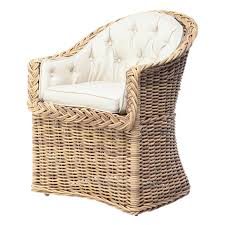 Outdoor Wicker Dining Chair Outdoor Bowed Front Dining Chair The Wicker Works The Wicker