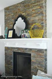 wonderful black slate tile fireplace best images about over hearth