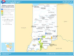 Map Of Federally Owned Land In Usa by Map Of Indiana Map Federal Lands And Indian Reservations