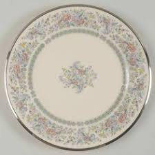 lenox vintage platinum banded bone china dinner plate by