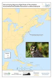 Map Rhode Island Raptors Of Block Island Biodiversity Research Institute