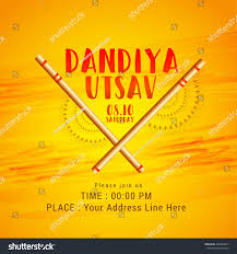 creative poster flyer dandiya utsavdandiya sticks stock vector