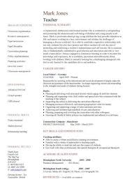 Best Resume Structure by Best Resume Format For Teaching Job Best Resume Collection
