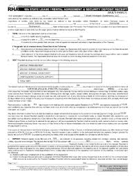 washington state residential leaserental agreement and security