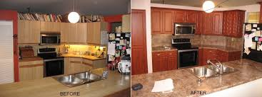 Refacing Cabinets Before And After Refacing We Specialize In Cabinet Refacing For South