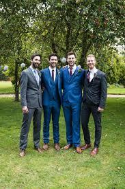 blue suit claret tie groom reiss pretty white summer informal