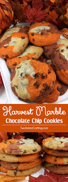 harvest marble chocolate chip cookies two crafting