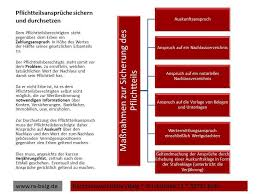 pflichtteilsansprüche erbrecht pflichtteil pflichtteilsansprüche sichern und durchsetzen