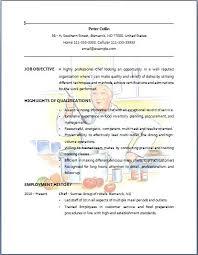 Sample Resume For Bartender by Resume Examples For Bartender