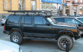 lifted jeep cherokee file jeep cherokee xj black customized lifted on podwale street in