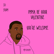 kanye valentines card s day cards logo maker small business branding
