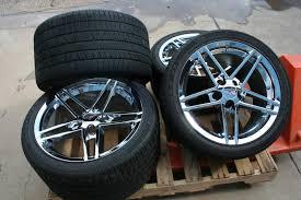 used corvette tires gm oem chrome c6 z06 zo6 corvette take wheels rims tires