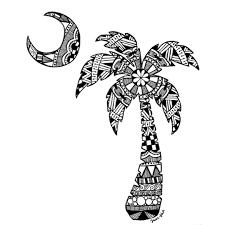 heyy its jess u2014 palmetto tree scflag art drawing mandalas