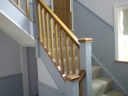 Oak Banister Makeover Remodelaholic Diy Stair Banister Makeover Using Gel Stain