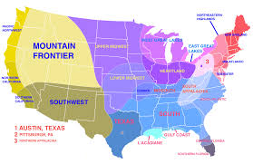Map Of East Coast Of Usa by A Very Accurate Map Showing Regions Based On Climate Social And