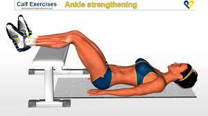 calf exercises ankle strengthening exercise on bench calf