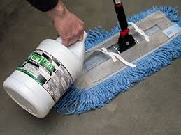 applying floor finish