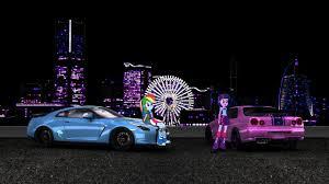 nissan skyline r34 custom 911221 artist nsdrift car equestria girls nissan nissan gt r