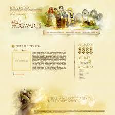 harry potter web design by szndsgn on deviantart
