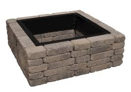 Square Fire Pit Kit by Backyard Creations 36