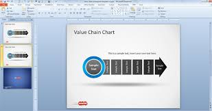 value chain template powerpoint michael porters value chain