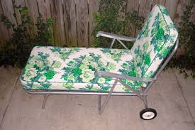 Vintage Metal Patio Furniture For Sale - vintage aluminum lawn patio chaise longue floral green spring