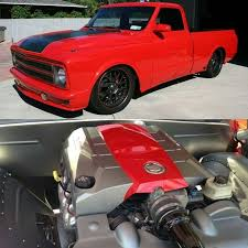 chevy truck with corvette engine truckin thrsday lsx c10 67 to 72 lsx cadillac engine cover