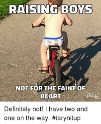 Raising Boys Meme - raising boys not for the faint of definitely not i have two and one
