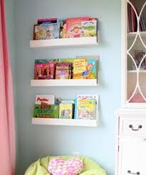 Kid Bookshelves by Wall Mount Metal 46 Inch Kids Nursery Room Classroom Bookcase