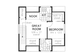 cottage floor plans with loft traditional style house plan 1 beds 1 00 baths 434 sq ft plan 18 317