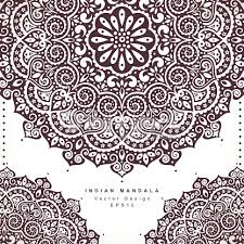 beautiful indian floral ornament wedding invitation greeting c