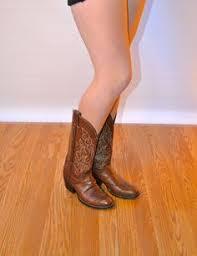 cowboy boots uk leather us 11 uk 9 eu 42 brown cowboy boots fauxy furr vintage cb19
