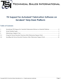 tsi support for autodesk fabrication software on zendesk help desk