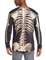 Halloween T Shirts by Amazon Com Faux Real Men U0027s Skeleton Halloween T Shirt Clothing