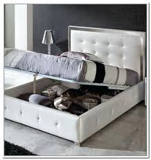 White Leather Storage Ottoman Storage Ottoman Bed Buy Side Lift Opening Small Storage