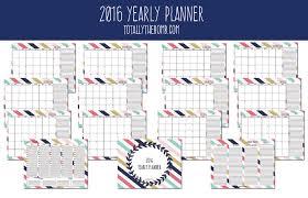free printable planner calendar 2016 2016 free printable financial planner