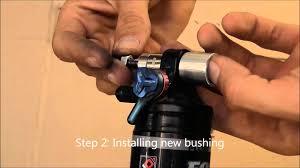 rear shock bushing replacement youtube