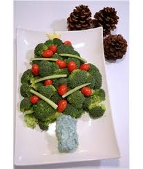 nutrex hawaii christmas tree veggie tray with spirulina dip