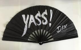 custom fans custom printed large kung fu fans fans