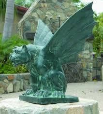 gargoyle garden statue in bronze available in small medium and