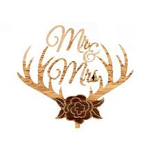 antler cake topper wedding cake topper it s wedding time real wedding ideas