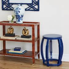 Navy Side Table Taboret Stool Side Table Navy Blue Bungalow 5