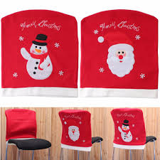 christmas chair back covers christmas chair back cover santa claus snowman pattern non woven