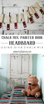 painted headboard painted door headboard with diva chalk mix