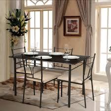 metal frame table and chairs ikayaa modern 5pcs metal frame padded dining table chairs set