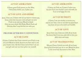 prayers before after holy communion family catholic gifts